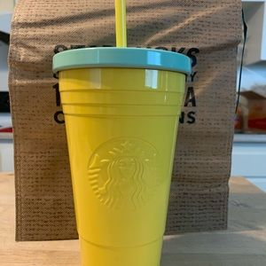 Starbucks Yellow Matte Tumbler, Korea Exclusive